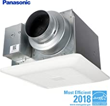 Panasonic FV-05-11VK2 WhisperGreen Select Ventilation Fan, Customizable Bathroom Fan, Pick-A-Flow Speed Selector, Extremely Quiet, Long Lasting, Easy to Install, Code Compliant, White (Renewed)