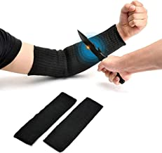 Arm Protective Sleeves,Kevlar Sleeves Cut Resistant Heat Resistant Sleeve,Anti Abrasion Safety Armband for Garden Kitchen Work 1 Pair (Black)