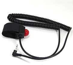 Ancable 3.5mm Mono Plug Mount Strap Push to Talk Switch Botton PTT for Icom Aviation Radios