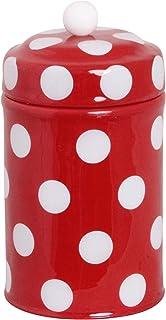 北欧 スウェーデン ストレームシャガ キャニスター缶 (ドット小) レッド661404