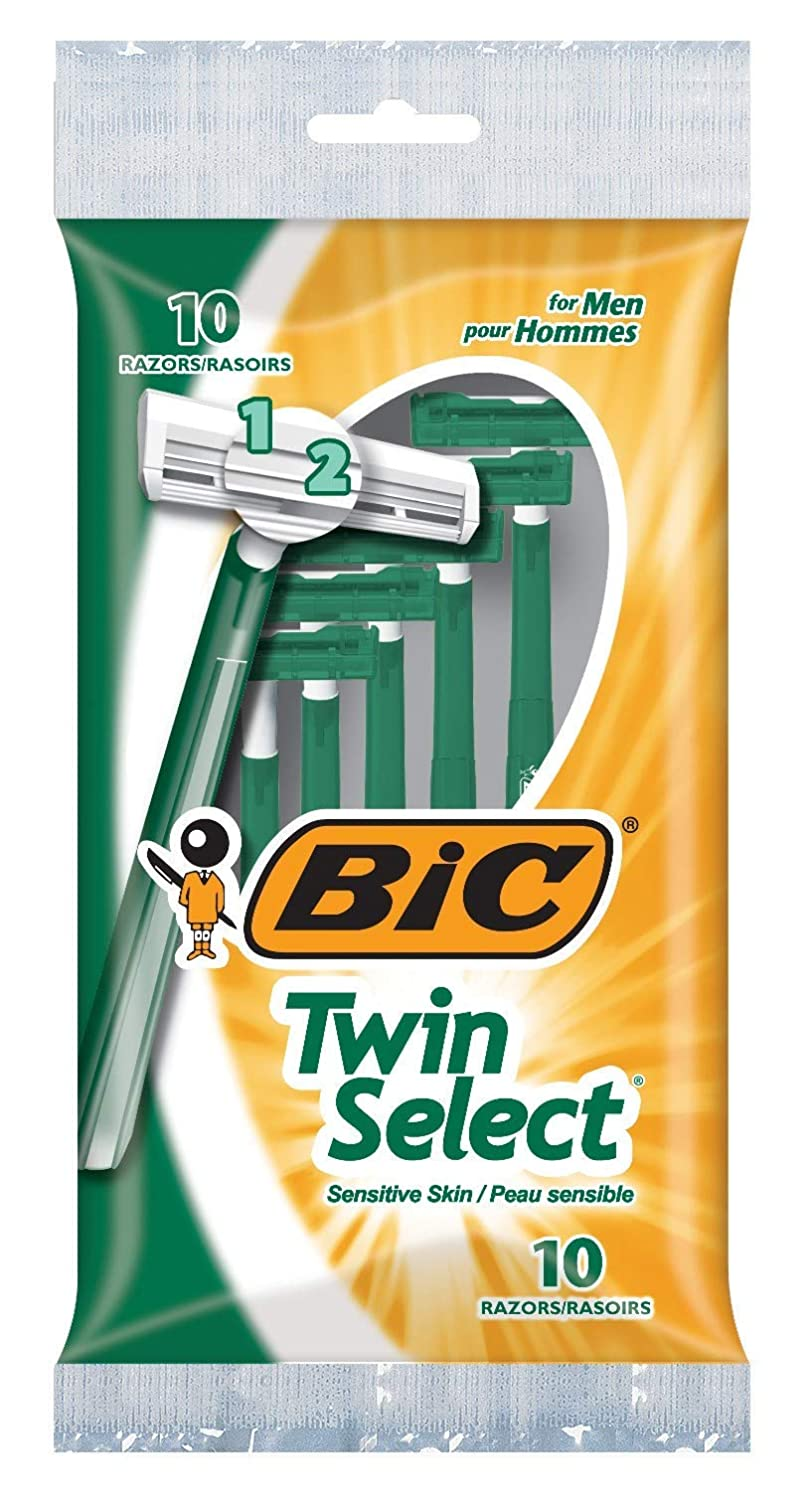 Bic Shaver Seasonal 2021 autumn and winter new Wrap Introduction Mens Twin Select Sensitive of 2 10 Count Pack