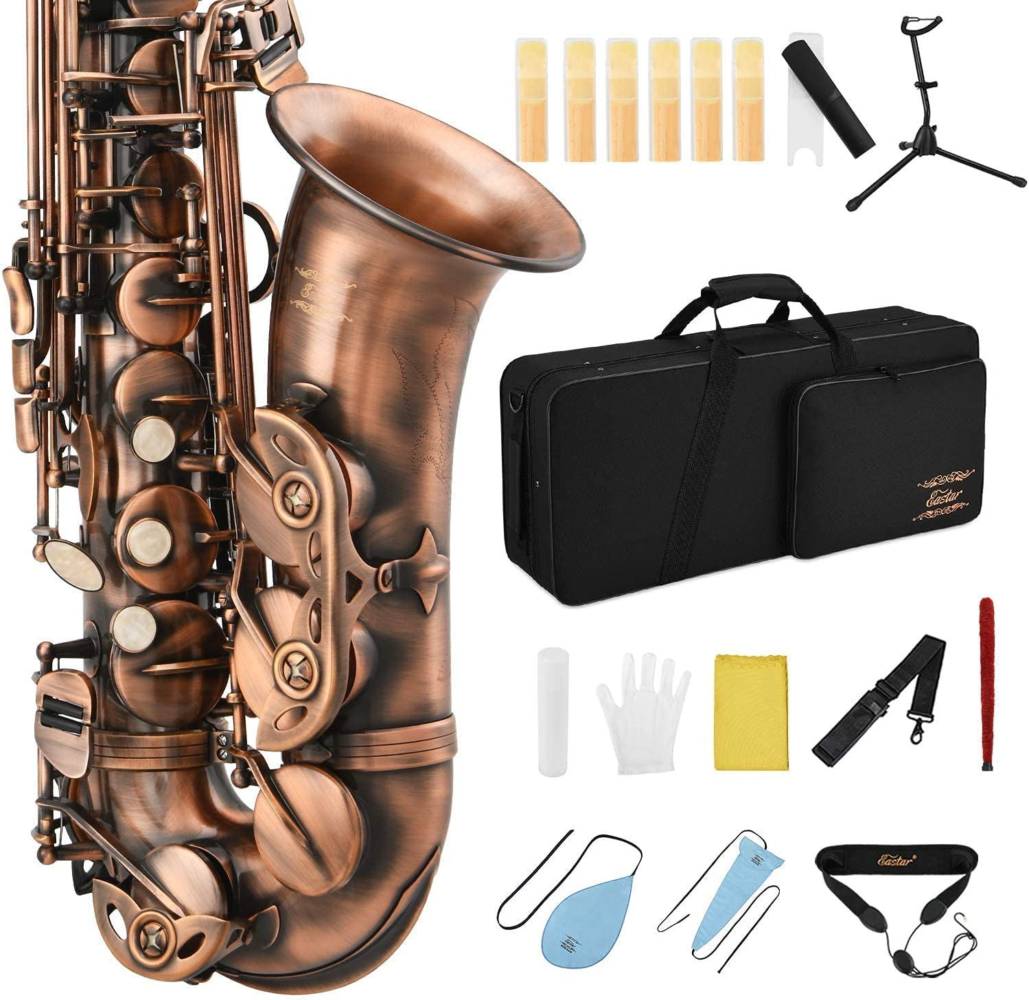 Eastar High quality new Alto Saxophone E Flat Sax Student Finish Antique Beg Outlet SALE