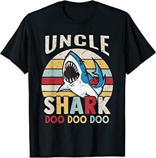 FAMILY 365 Fathers Day Funny Uncle Shark Relative Gift Men T-Shirt