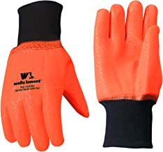 Wells Lamont Cold Weather Work Gloves, PVC Coated, High Visibility, One Size (164)