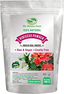 Hibiscus Powder - 100% Pure & natural, Promotes healthy hair, anti-aging face mask & multi-purpose use