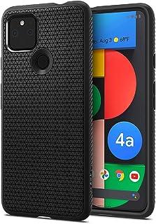 Spigen Google Pixel 4a 5G ケース TPU ソフト ケース マット 耐衝撃 米軍MIL規格取得 カメラ 液晶 保護 傷防止 指紋防止 衝撃吸収 Qi充電 ワイヤレス充電 リキッド・エアー ACS01880 (マット・ブラック)