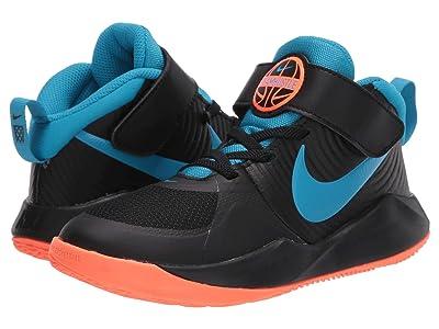 Nike Kids Team Hustle D 9 (Little Kid) (Black/Laser Blue/Hyper Crimson) Kids Shoes