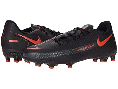 Nike Kids Phantom GT Academy FG/MG Soccer (Little Kid/Big Kid) (Black/Chile Red/Dark Smoke Grey) Kid