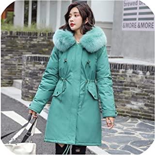 Surprise S Winter Women Jacket Thick Warm Cotton Coat Large Collar Hooded Parkas