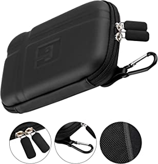GPS Case 5 Inch, Hard Carrying Case, Mesh Pocket for USB Cable Car Charger, Waterproof Shockproof Storage Electronic Travel GPS Case Compatible with Garmin Driveluxe 51 40 50 52 58lm 64s 65 G80,Black