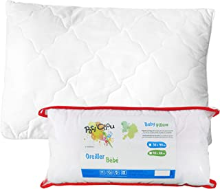 Pati'Chou Almohada plana 100% Algodón para bebés y niños Relleno 100 gr - 40 x 60 cm