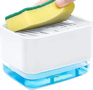 argento utensili da cucina portasapone dispenser di sapone TAECOOOL Dispenser di sapone portasapone per piatti