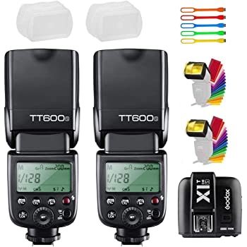 Godox TT600 HSS 1//8000s Flash Speedlite with Godox X2T-C Remote Trigger Transmitter,Built-in 2.4G Wireless X System Compatible for Canon