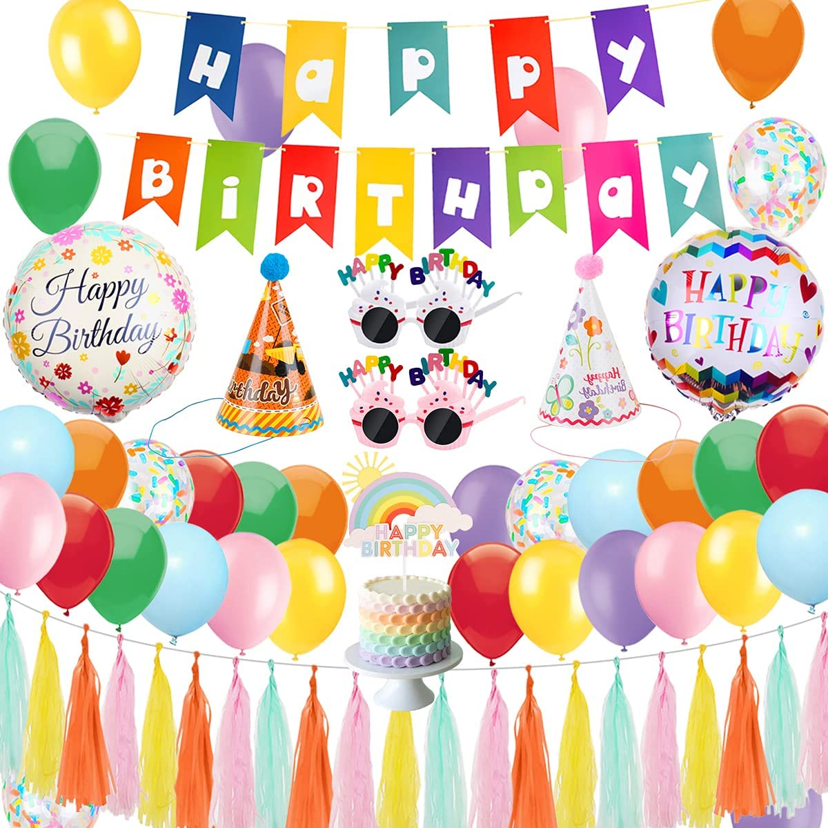 Colorful Birthday Decorations Some reservation Rainbow Wome Columbus Mall Party for
