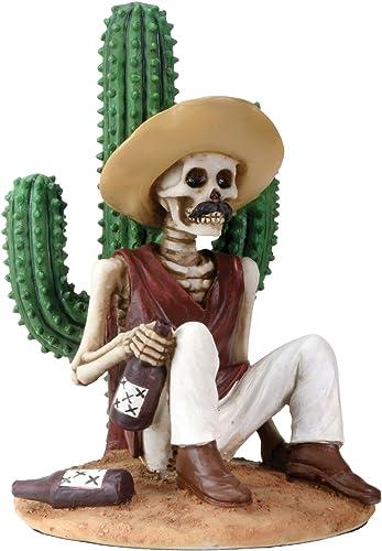 forma única Del día de los Muertos diámetro diámetro diámetro de Muertos Boracho sentado por un Cactus figura decorativa  nuevo listado