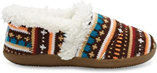 Toms Earth Woolen Fair Isle Youth Girl's Slippers (5, Multicolor)