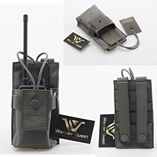 Warrior Quest Adjustable 1000D Nylon Short Radio Pouch – Molle Radio Pouch Tactical Radio Holster …