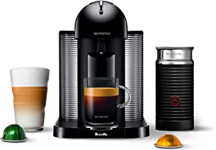 Nespresso Vertuo Coffee and Espresso Maker by Breville with Aeroccino, Black and BEST SELLING VERTUOLINE COFFEES INCLUDED