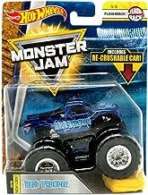 Hot Wheels Monster JAM 1:64 Scale Flashback 5/6, Dark Blue Blue Thunder Includes RE-Crushable CAR