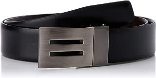 Loop Leather Co Men's Equalise Men's Leather Belt, Black/Chocolate