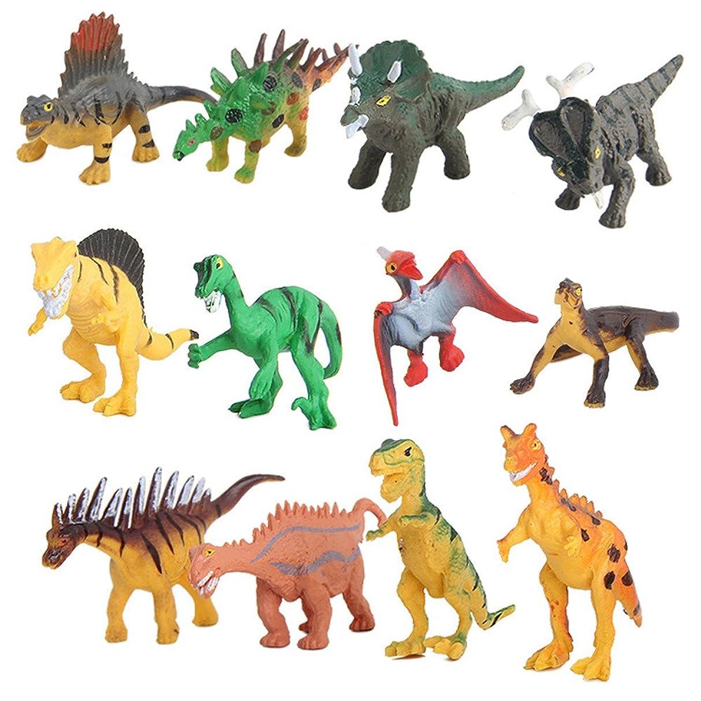 Kanzd 20 Pieces Dinosaur Toy Jungle Dinosaur Toy Set for Boy Girl