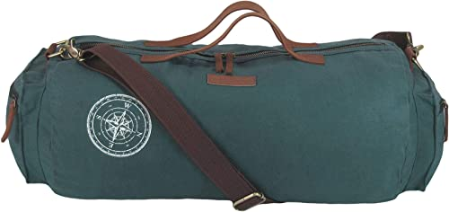 Combat Blue 100 Cotton Canvas Duffle Gym And Sports Bags With Stylish Design And Zipped Compartments For Men And Women