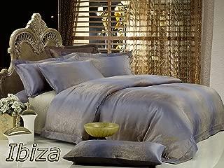Dolce Mela DM449Q Ibiza 6-Piece Percale Jacquard Cotton Duvet Cover Set, Queen