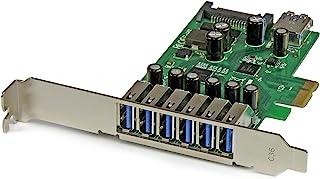 StarTech.com 7 Port PCI Express USB 3.0 Card - Standard & Low-Profile - SATA Power - UASP Support - 1 Internal & 6 Externa...