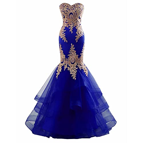 399c43dcec7c Changuan Mermaid Evening Dress for Women Backless Formal Long Prom Dresses  with Embroidery