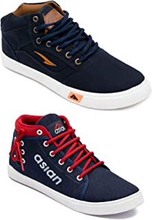 ASIAN Men's Walking Shoes,Laceup Shoes Denim Casual Shoes