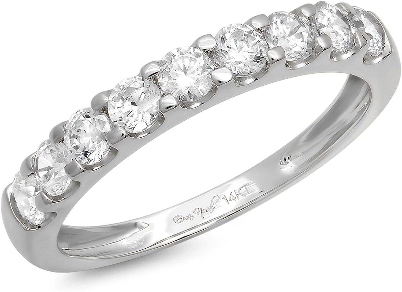 Clara Pucci 1.2 Ct Round Cut Designer Pave Engagement Promise We