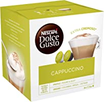 Nescafé Dolce Gusto Cappuccino - Café Gourmand - 16 Capsules (1 boîte x 16) 186,4g