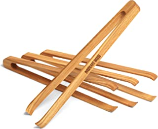 mini wooden tongs