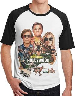 メンズ Tシャツ カットソー 半袖 ラグラン ワンス アポン ア タイム イン ハリウッド ティーシャツ コットン クルーネック 無地 おしゃれ カジュアル ゆったり インナーシャツ ベースボール スポーツシャツ トップス 薄手 快適