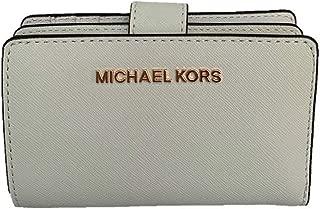 Michael Kors Jet Set Travel Bifold Zip Coin Wallet - Optic White