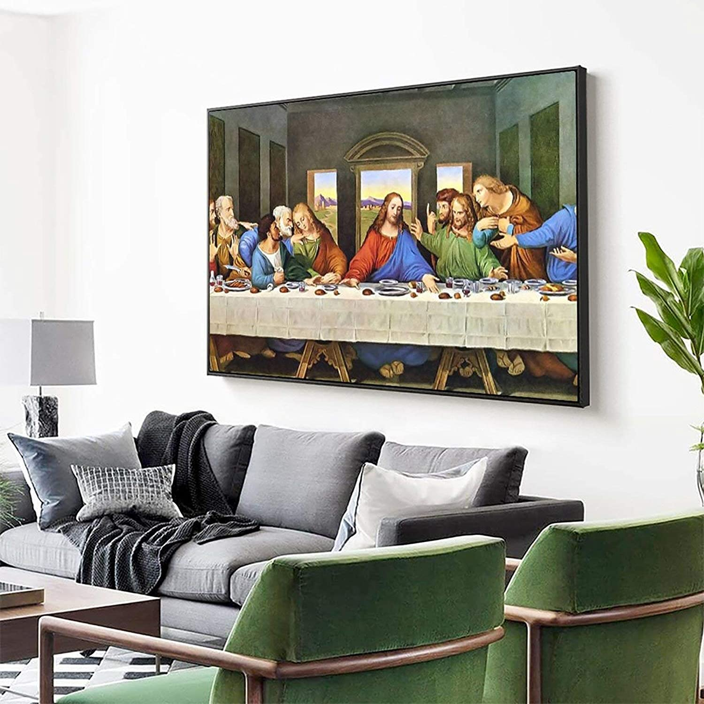 dormitorio decoraci/ón Marco sala de estar 20 x 30 cm hogar La /última cena lienzo impresiones de cuadros modulares para sala de estar cartel en la pared