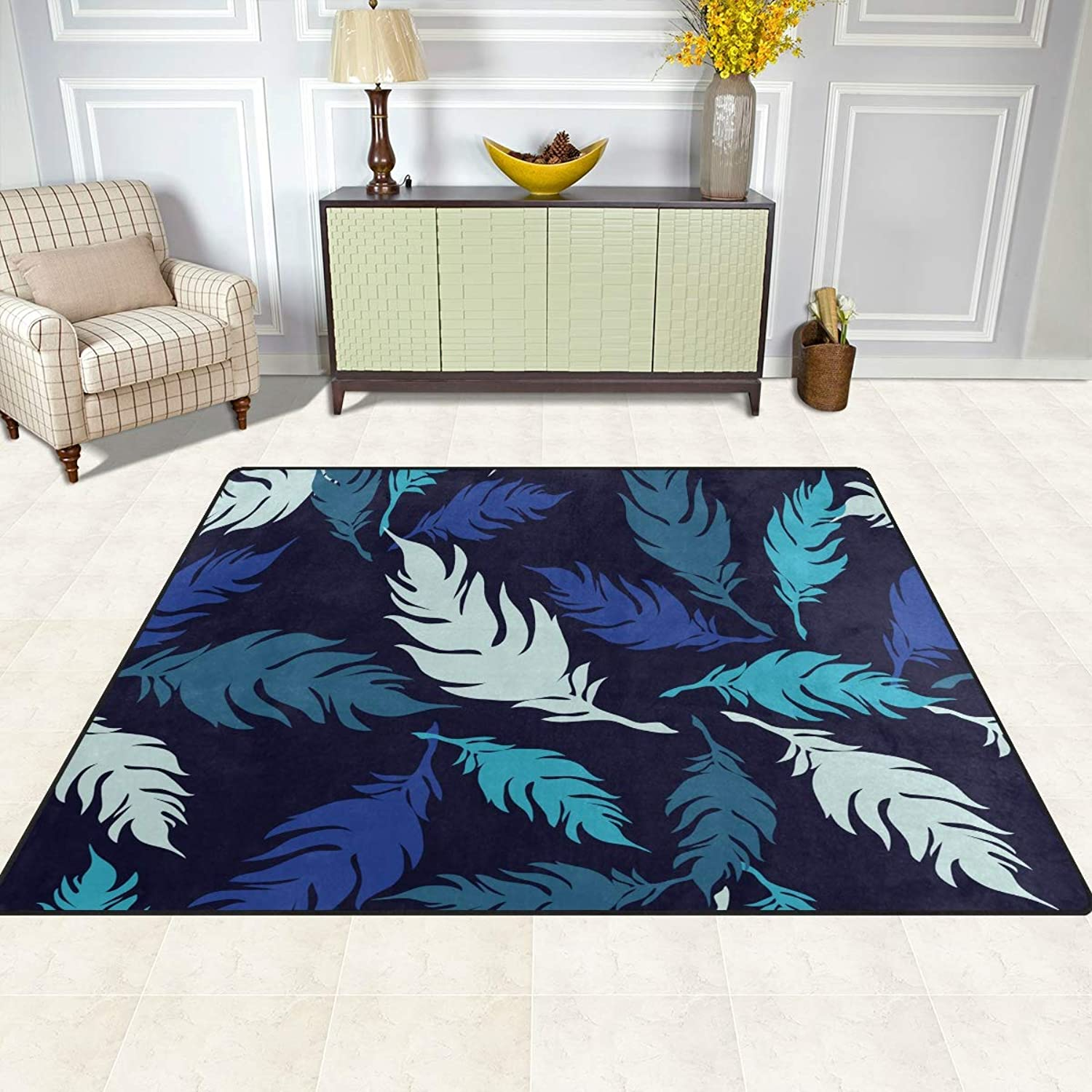 FAJRO Decorative Feathers Pattern Rugs for entryway Doormat Area Rug Multipattern Door Mat shoes Scraper Home Dec Anti-Slip Indoor Outdoor