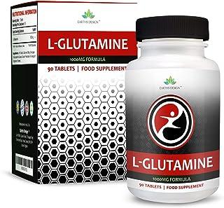 L-Glutamina - 1000mg Glutamina - Aminoácido L Glutamina - Glutamine - 90 Pastillas (Suministro Para 3 Meses)