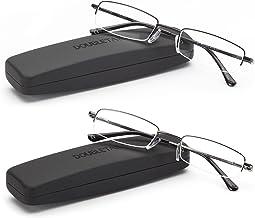 عینک خواندن DOUBLETAKE - 2 جفت مورد جمع و جور شامل خوانندگان نیمه Rimless