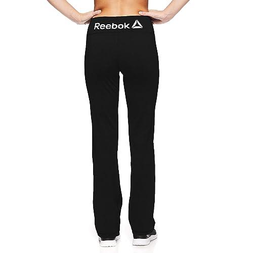 a7c5676cb4e235 Reebok Women s Lean Running Pants - Straight Leg Workout Bottoms w Key  Pocket