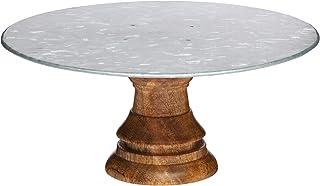 KitchenCraft Industrial Kitchen - Soporte de madera para tartas con plato de acero, multicolor, 19,5 cm