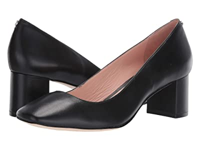 Kate Spade New York Kylah Block Heel Pump (Black Leather) High Heels
