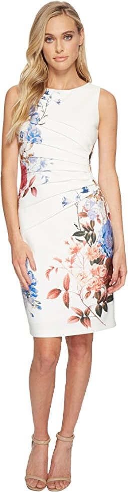 Ivanka Trump Starburst Printed Sleeveless Dress