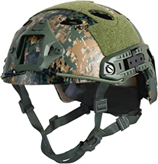 Airsoft Helmet Digital Woodland Camo Adjustable Breathable PJ FAST Ballistic U.S.Military Helmet For Paintball Hunting Shooting