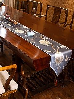 Accueil Linge De Table Chemin De Table Coureurs De Table De Fleurs Extérieures, Linge De Table en Polyester Floral À Resso...