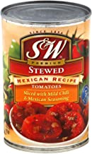 S&W, Mexican Style Stewed Tomatoes, 14.5oz Can (Pack of 6)