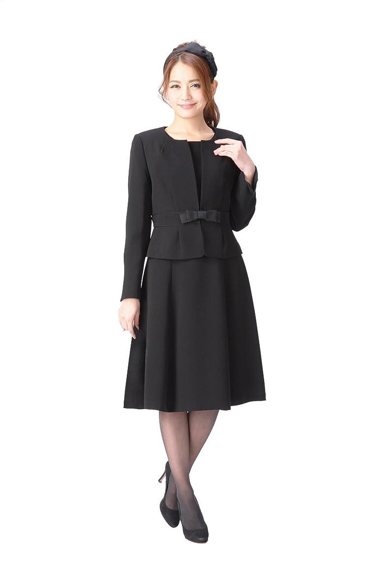 悪名高いわがまま打倒(マーガレット)marguerite スーツ レディース ブラックフォーマル 喪服 アンサンブル 礼服 m433