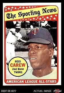 1969 Topps # 419 All-Star Rod Carew Minnesota Twins (Baseball Card) Dean's Cards 6 - EX/MT Twins