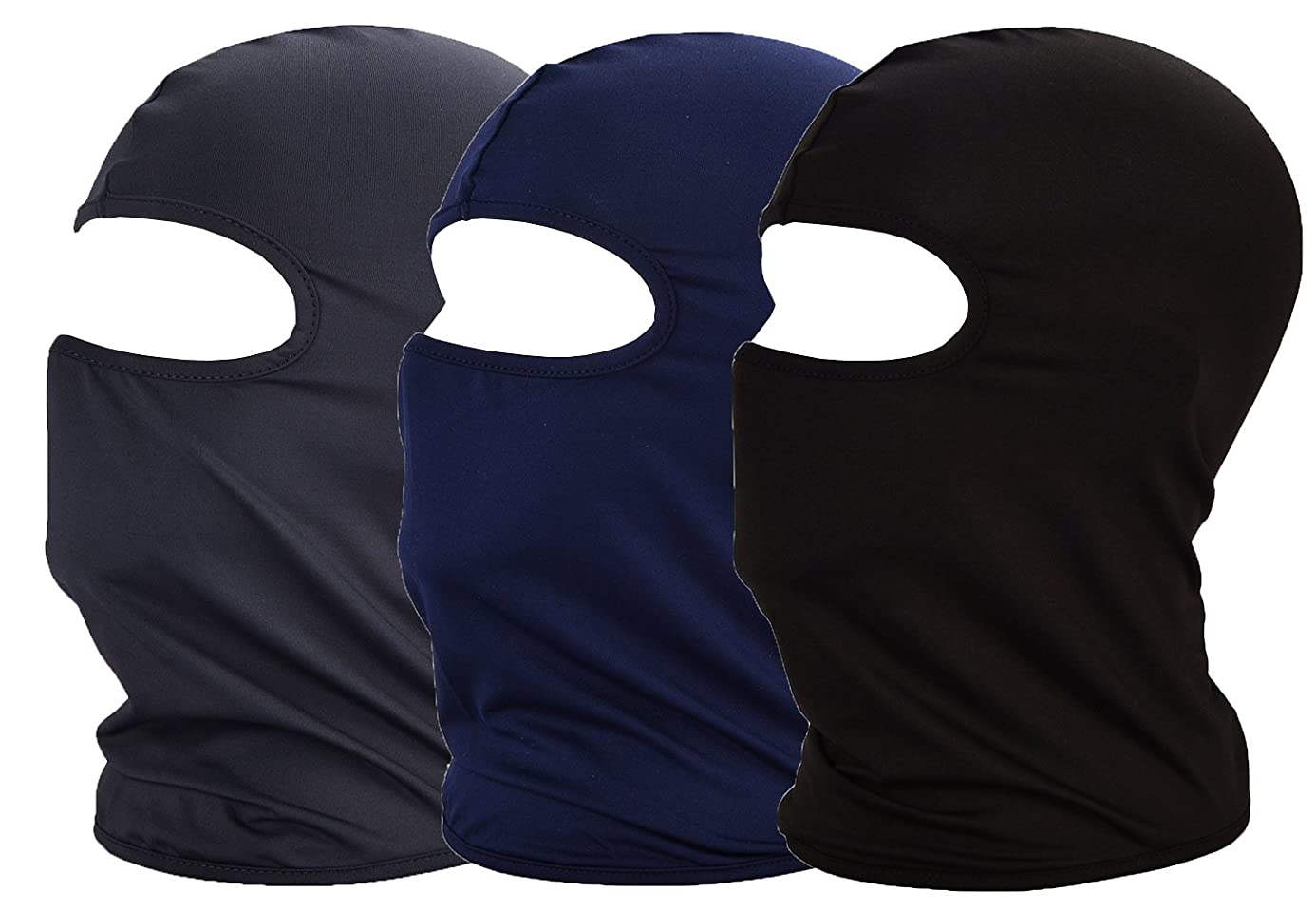 MAYOUTH Balaclava UV Protection Summer Face Masks for Cycling Outdoor Sports Full Face Mask Breathable 3pack Good Gift Great Present