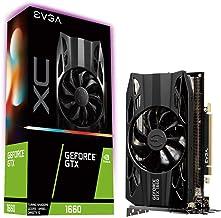 EVGA GeForce GTX 1660 XC Gaming - Tarjeta gráfica 6 GB GDDR5, HDB Fan (06G-P4-1163-KR) Negro